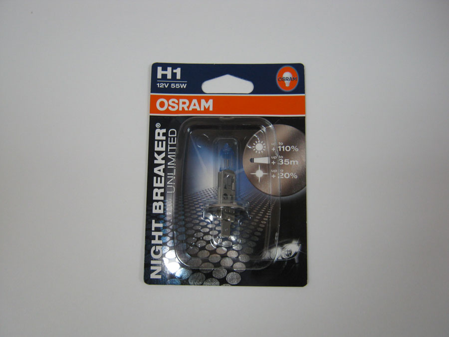 OSRAM H1 12V 55W P14,5s +110% (64150NBU-01B)