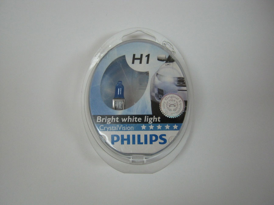 PHILIPS H1 12V 55W P14,5s +W5W Crystal Vision (12258CVSM)