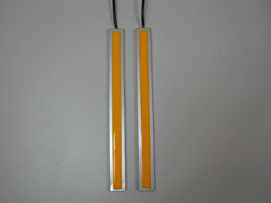 ДХО 12V Yellow COB (L170мм) хромированный корпус