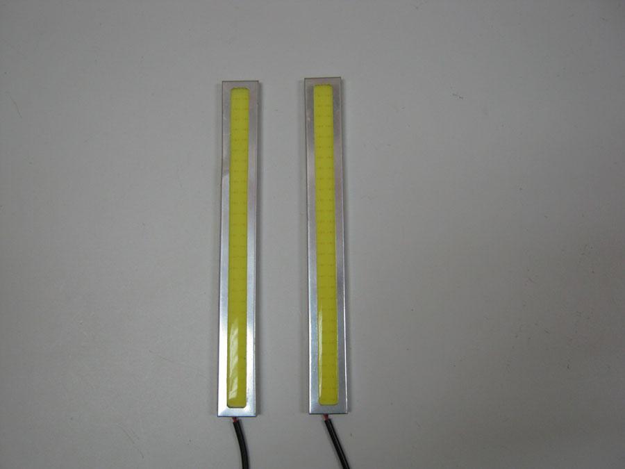 ДХО 12V White COB (L140мм)  хромированный корпус