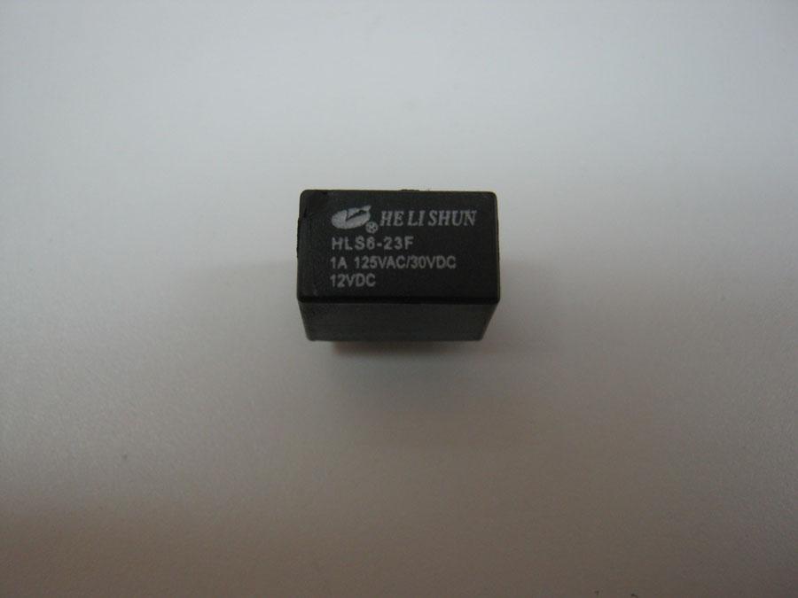 DC 12V 1A 6pin HLS6-23F (12,5x7,5x10,0) HE LI SHUN (одна переключающая группа)