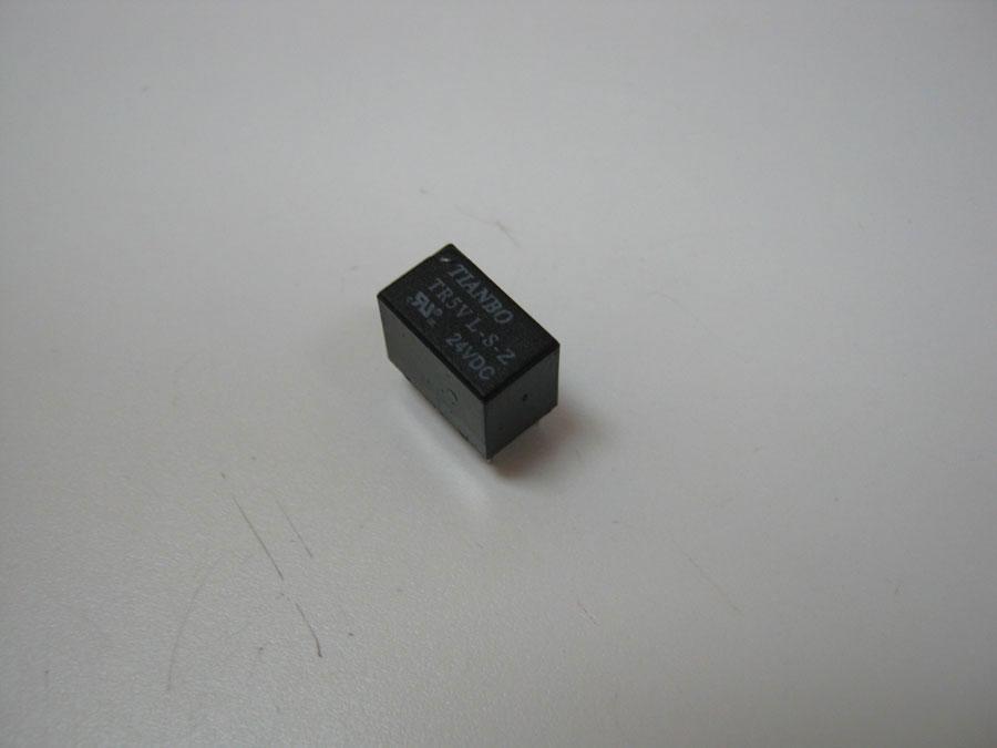 Реле DC 24V 2A 6pin TR5VL-S-Z (12,5x7,5x10,0) TIANBO (одна переключающая группа)