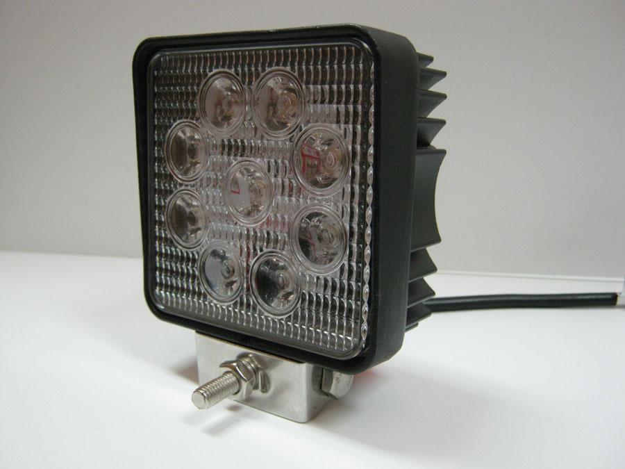 Фара светодиодная DC9-30V 27W 9LED emitter Bridgelux (spot) 6000K 110х55х128мм (WL-0727-1)