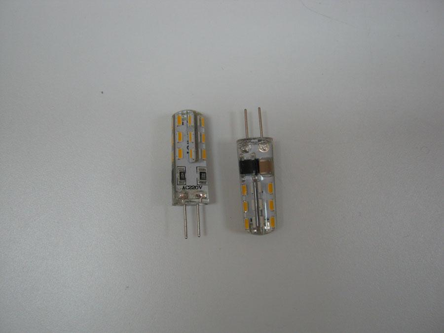 Лампа светодиодная 220V G4 24 SMD 3014 - WarmWhite