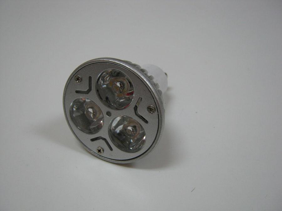 Лампа св/д 220V GU10 3LEDx1W/белая
