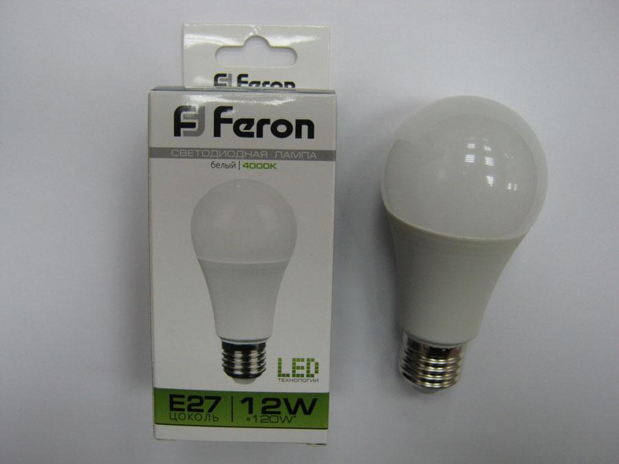 Лампа светодиодная 220V E27 12W 4000K Feron LB-93