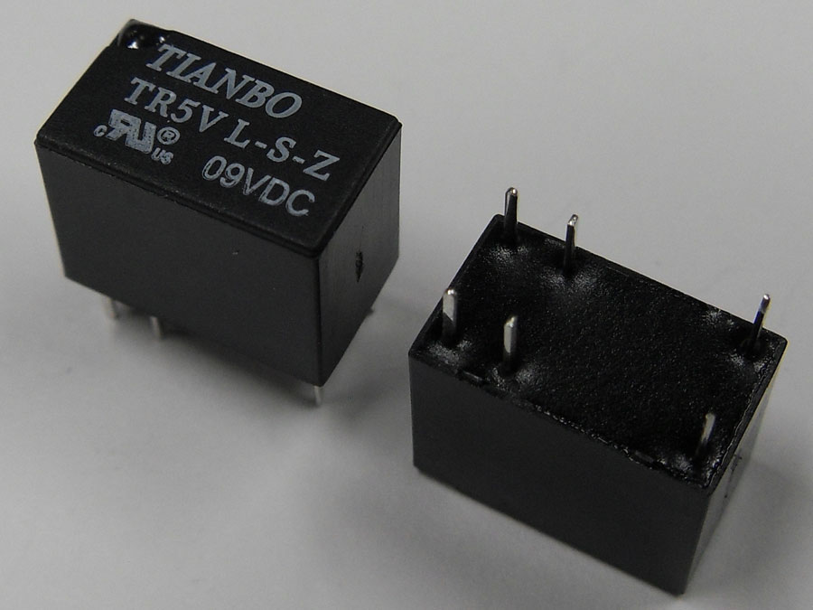 Реле DC 9V 1A 6pin TR5VL-S-Z (12,5x7,5x10,0)