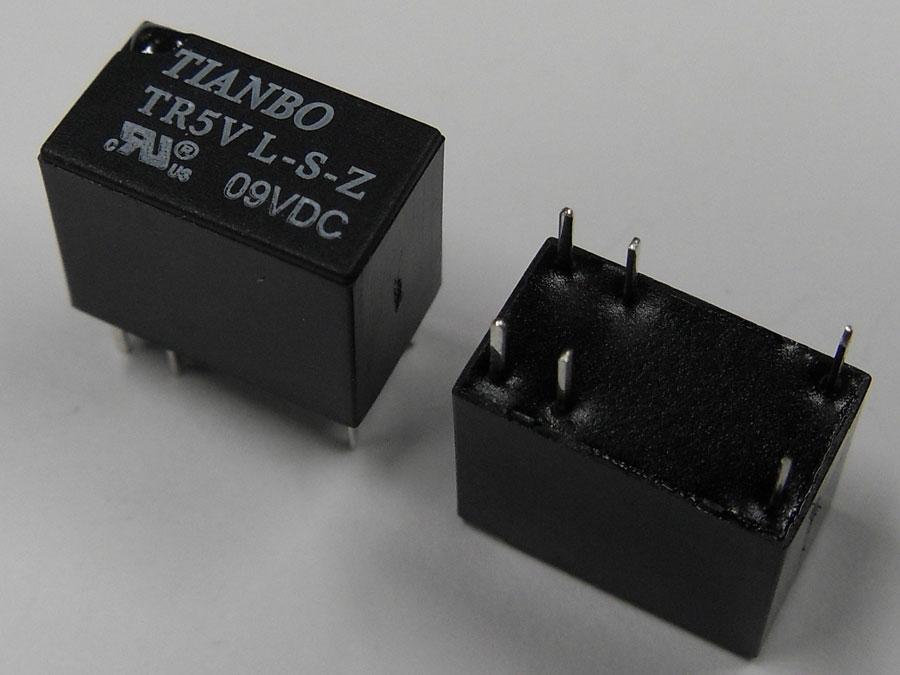 DC 9V 1A 6pin TR5VL-S-Z (12,5x7,5x10,0) TIANBO (1 переключающая группа)
