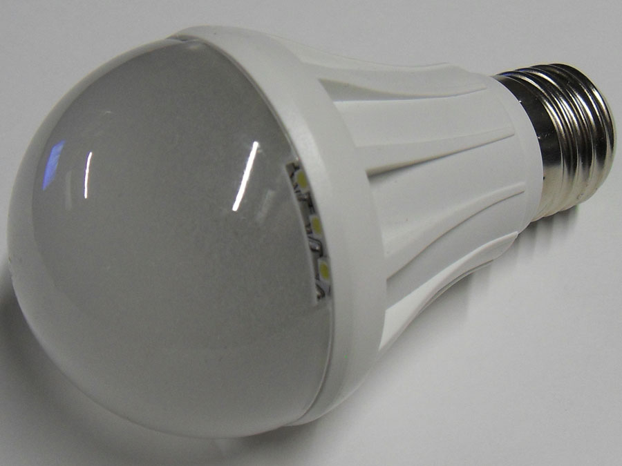 Лампа светодиодная 220V E27 5W SMD3528/белая
