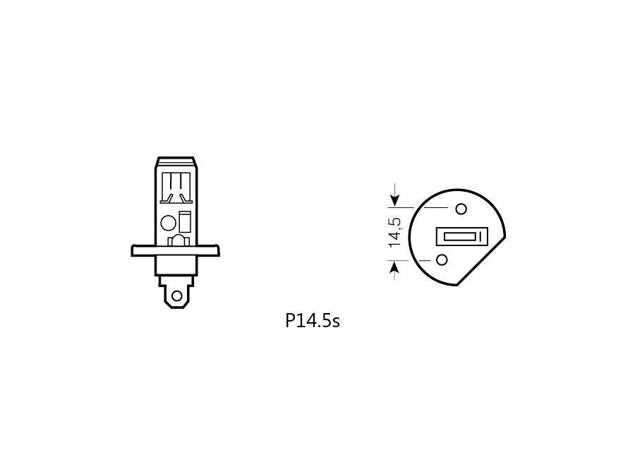 PHILIPS H1 12V 55W P14,5s +30% PREMIUM (12258PR)