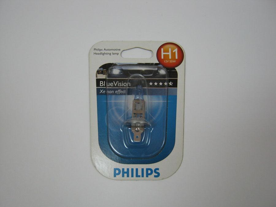 PHILIPS H1 12V 55W P14,5s Blue Vision (12258BV+BI)