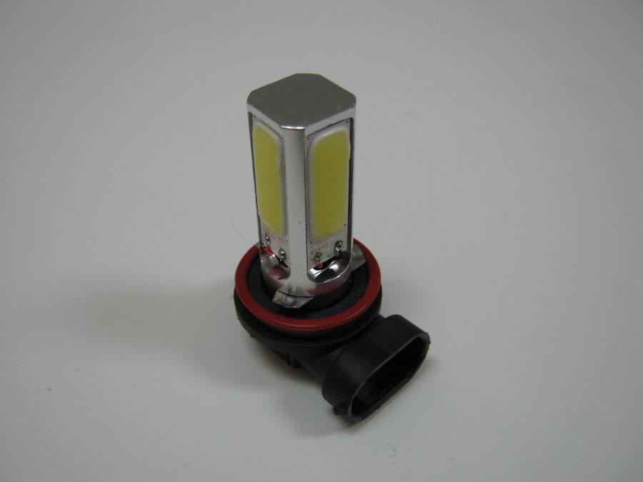 Светодиод H11 12V COB White (13V/0,28А/3,6W)