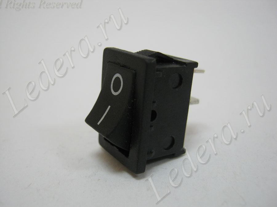 Клавиша малая (OFF-(ON)) 2pin (чёрный) MRS-111A