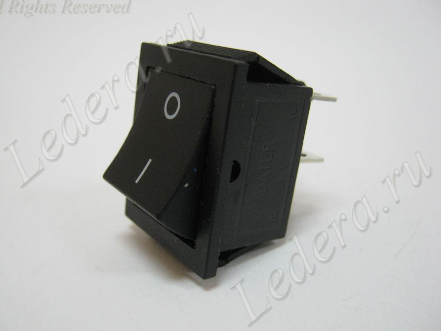 Клавиша сетевая (OFF-(ON)) 4pin (чёрный) XB604