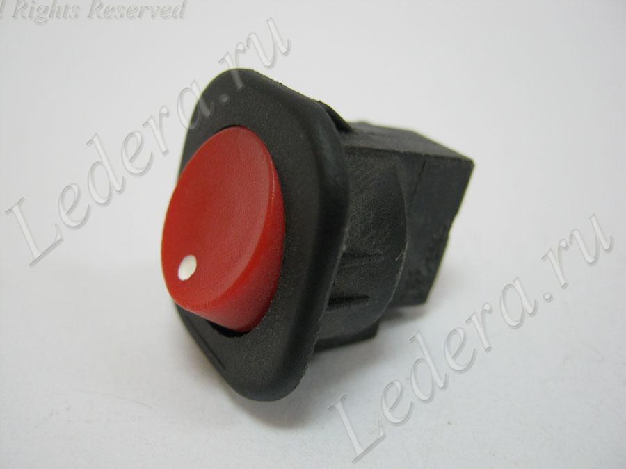 Клавиша круглая (ON-OFF) 2pin/винт (красн.) RS-101-7C