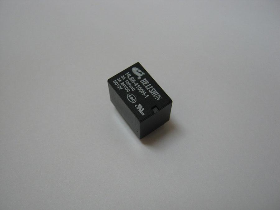 Реле DC 12V 3A 5pin HLS6-4100H-1 DC12V-3A-C (15,7x10,4x11,4) HE LI SHUN (один переключающий контакт)