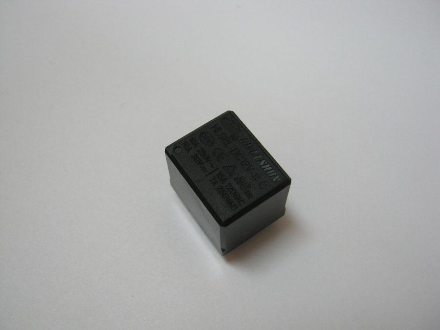 Реле DC 12V 15A 5pin (T73) HLS8L-S-C/1C (19,0х15,4х15,5) HE LI SHUN (один переключающий контакт)