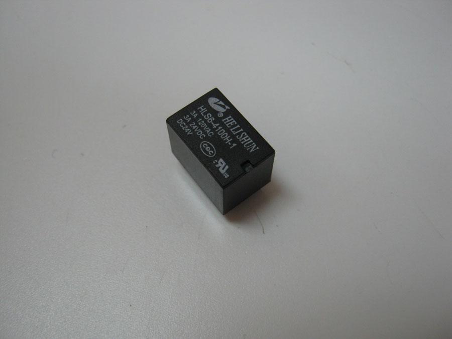 Реле DC 24V 3A 5pin HLS6-4100H-1/1C (15,7x10,4x11,4) HE LI SHUN (один переключающий контакт)