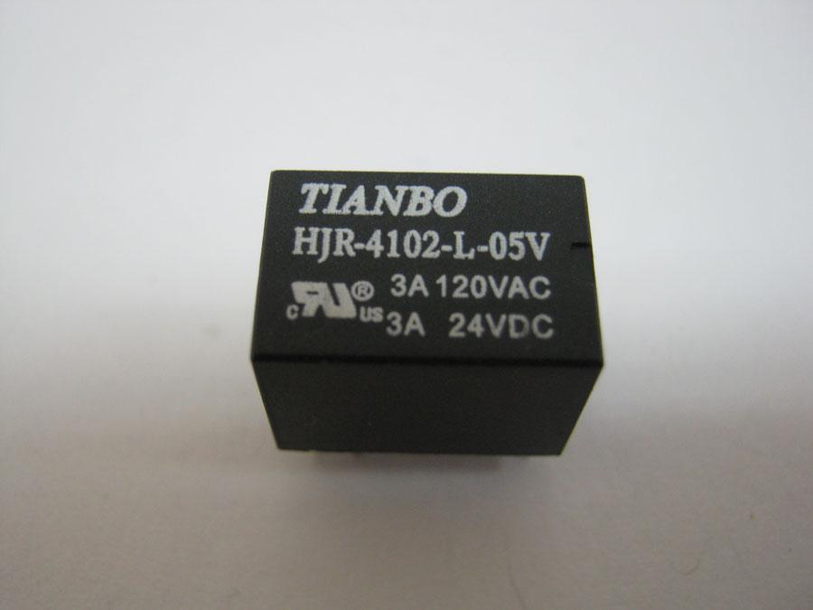Реле DC 5V 3A 6pin HJR4102-L-5VDC-S-Z (15,7x10,4x11,4) TIANBO (один переключающий контакт)